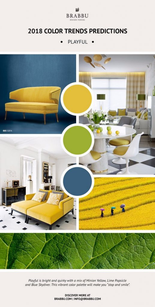 8 новых палитр 8 новых палитр PANTONE 2018: Создаем уникальный интерьер Decorate Your Interiors Using Pantones 2018 Colour Trends Predictions 5 1