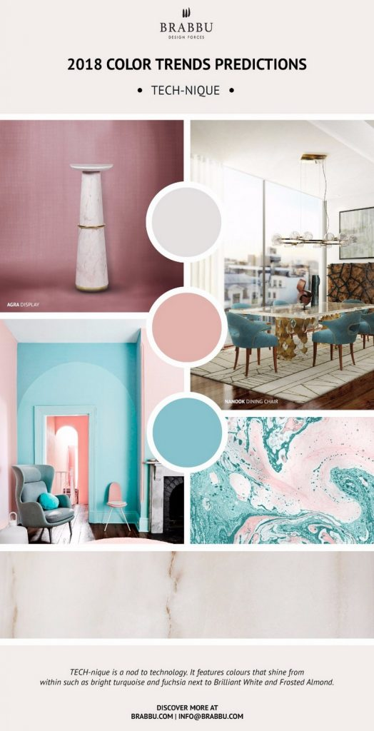 8 новых палитр 8 новых палитр PANTONE 2018: Создаем уникальный интерьер Decorate Your Interiors Using Pantones 2018 Colour Trends Predictions 7 1