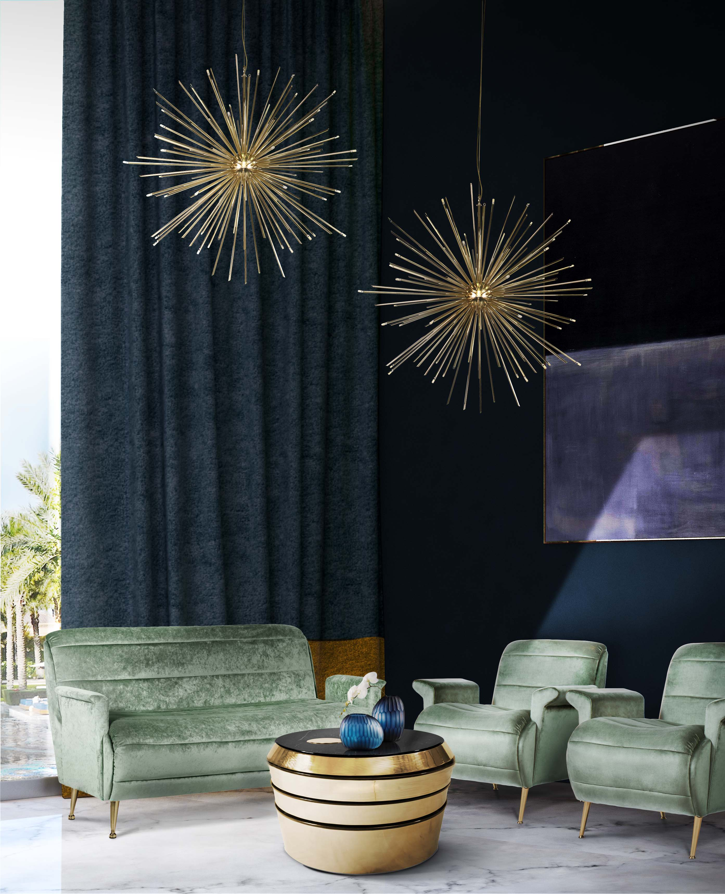 бренд Украсьте свой новогодний интерьер уникальными золотыми светильниками cannonball suspension ambience 01 HR 1
