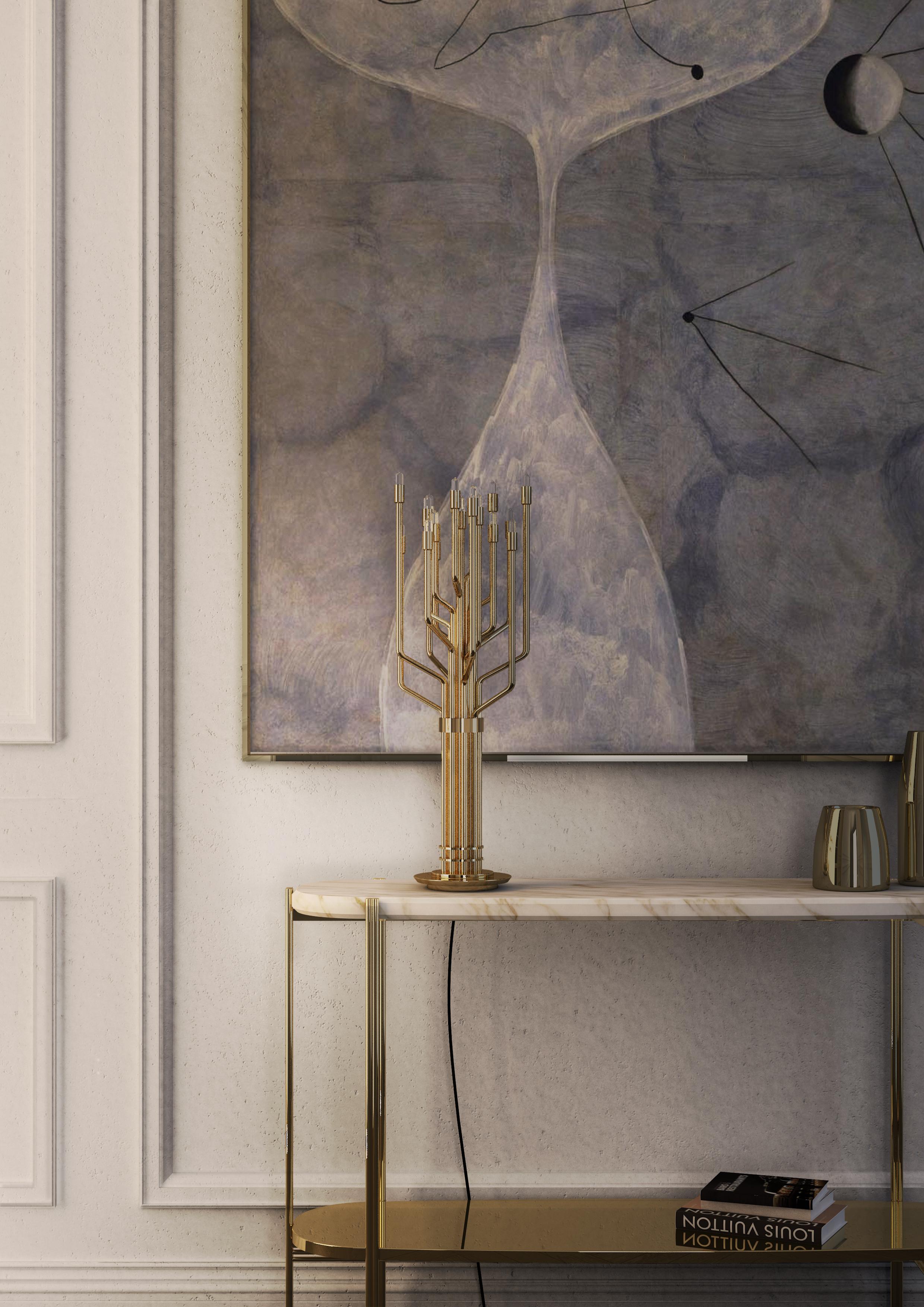 Украсьте свой новогодний интерьер уникальными золотыми светильниками бренд Украсьте свой новогодний интерьер уникальными золотыми светильниками janis table ambience 01 HR