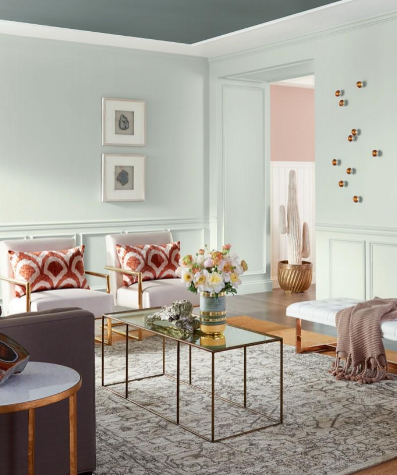 Цвета, в которые вы точно захотите покрасить свои стены в 2018