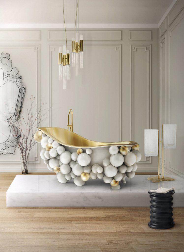 Идеи современных ванных, в которых мрамор — самое главное