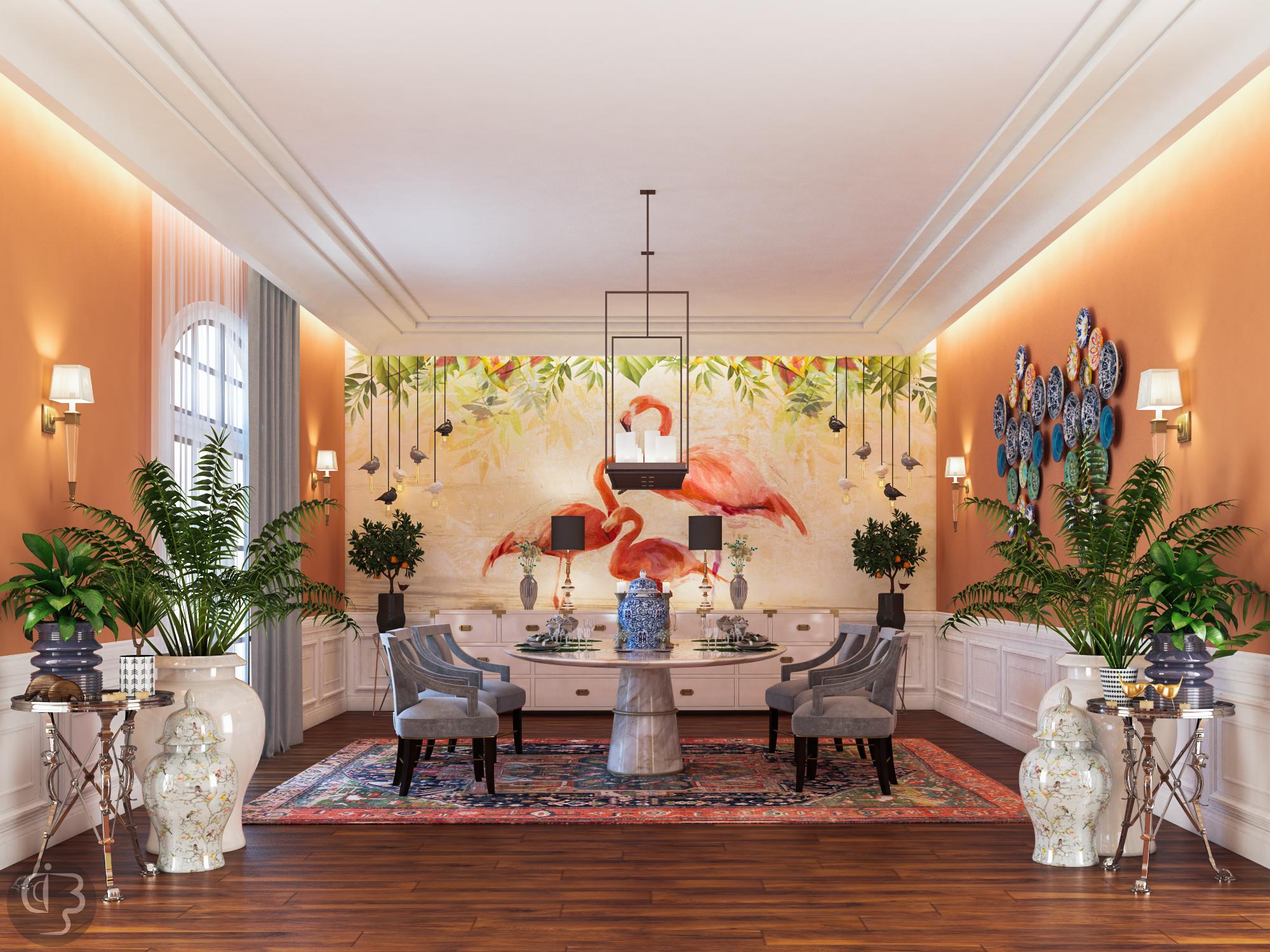 дизайн интерьера Красивый дизайн интерьера от Boshrainteriors Studio и BRABBU dining room by boshrainteriors 1