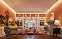 дизайн интерьера Красивый дизайн интерьера от Boshrainteriors Studio и BRABBU living room by boshrainteriors 2 240x150