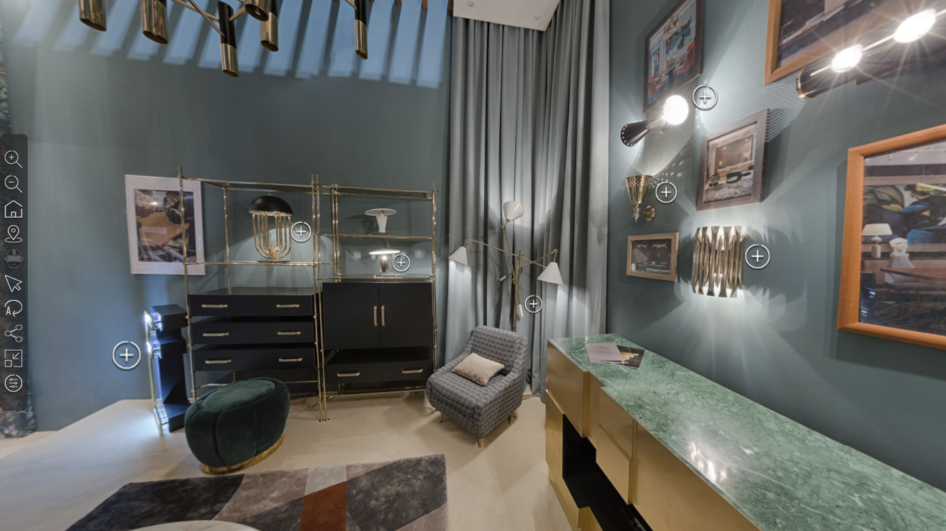 Интерактивный обзор стенда на isaloni 2018 в 3D 360 градусов