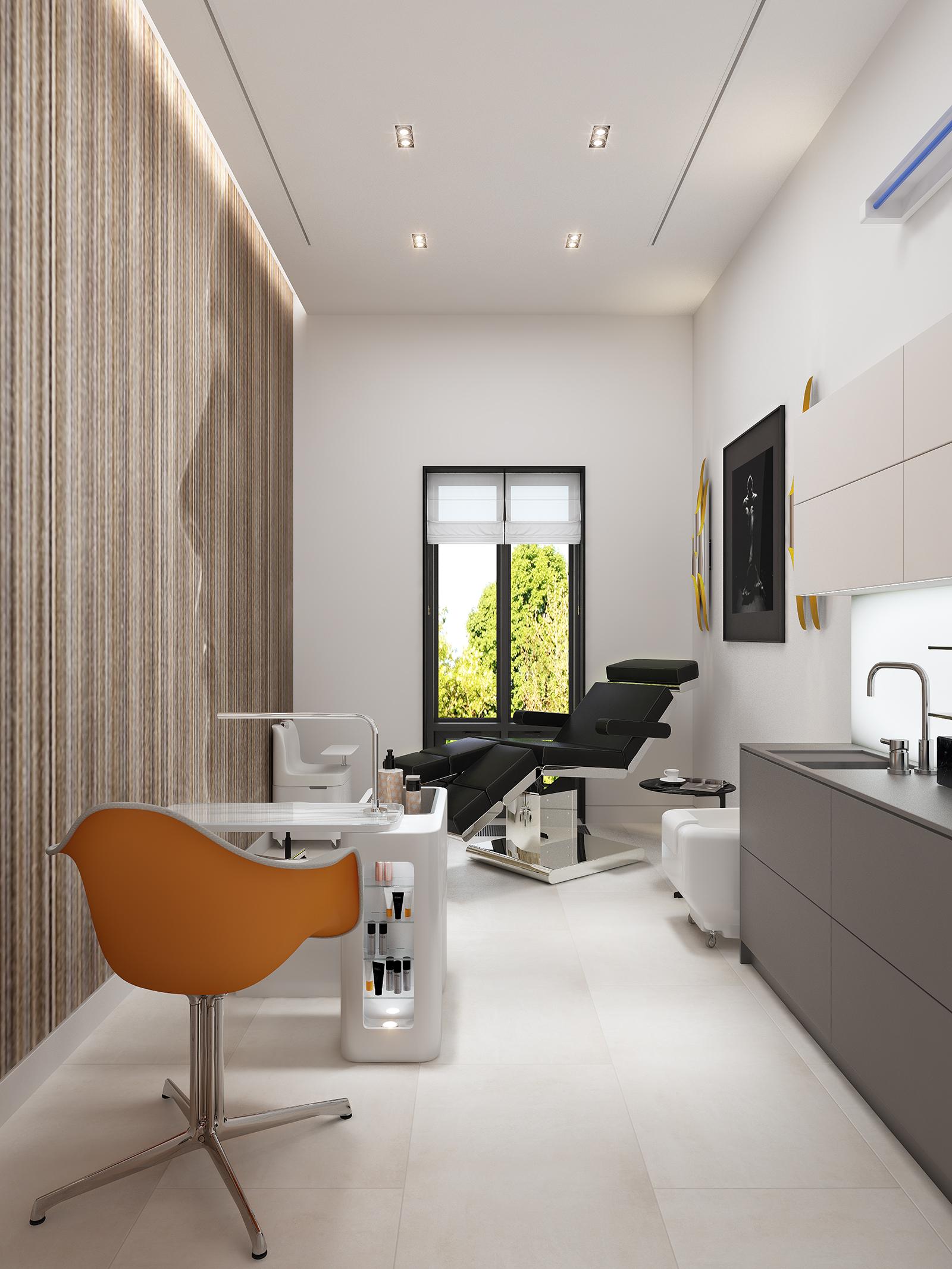 Дизайн интерьера косметического салона от студии Nataly Bolshakova