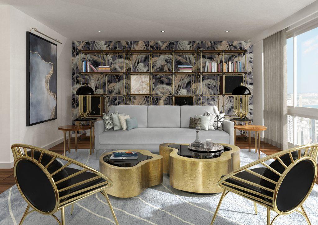 Как создать идеальную mid-century гостиную.