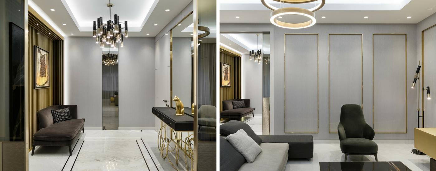 люстра Ike EquipHotel: интерьер, в котором люстра Ike смотрится лучше всего Yudin Novikov Apartments Project1
