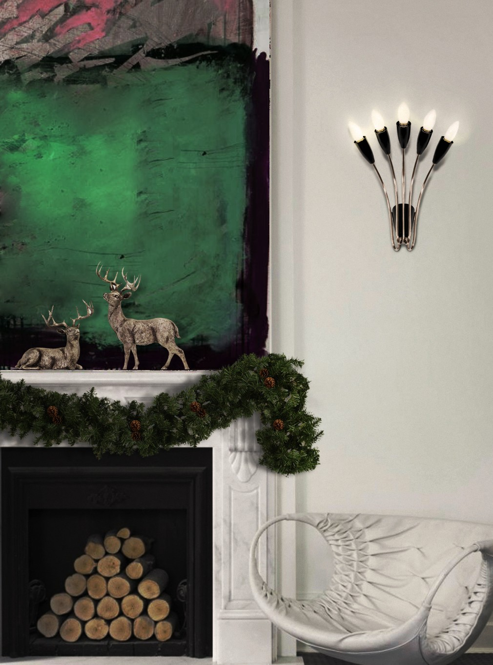 Рождественский декор 2019 Рождественский декор 2019 norah wall ambience 01 christmas HR