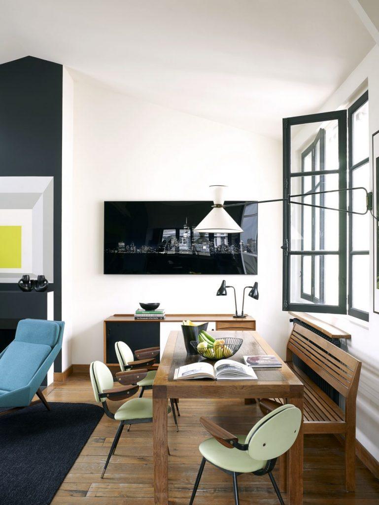 Эклектичное сочетание винтажной мебели в парижском лофте парижском лофте Эклектичное сочетание винтажной мебели в парижском лофте House Tour An Eclectic Mix of Vintage Furniture in a Paris Loft 5 1020x1359