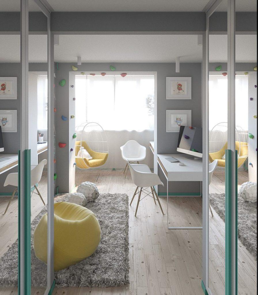 Пастельные тона и скандинавский стиль в квартире в Киеве