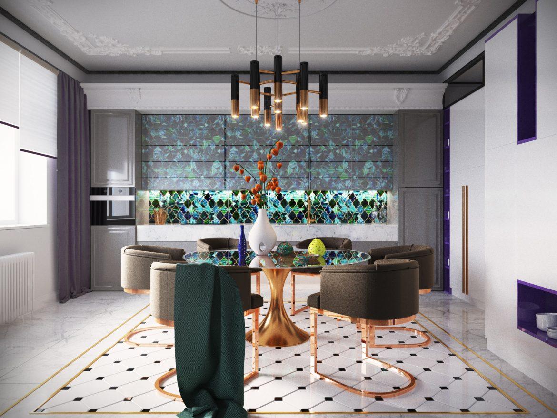 Очаровательный синий дизайн квартиры с потрясающими деталями синий дизайн синий дизайн квартиры с потрясающими деталями Charming Blue Apartment Design With Stunning Details 1
