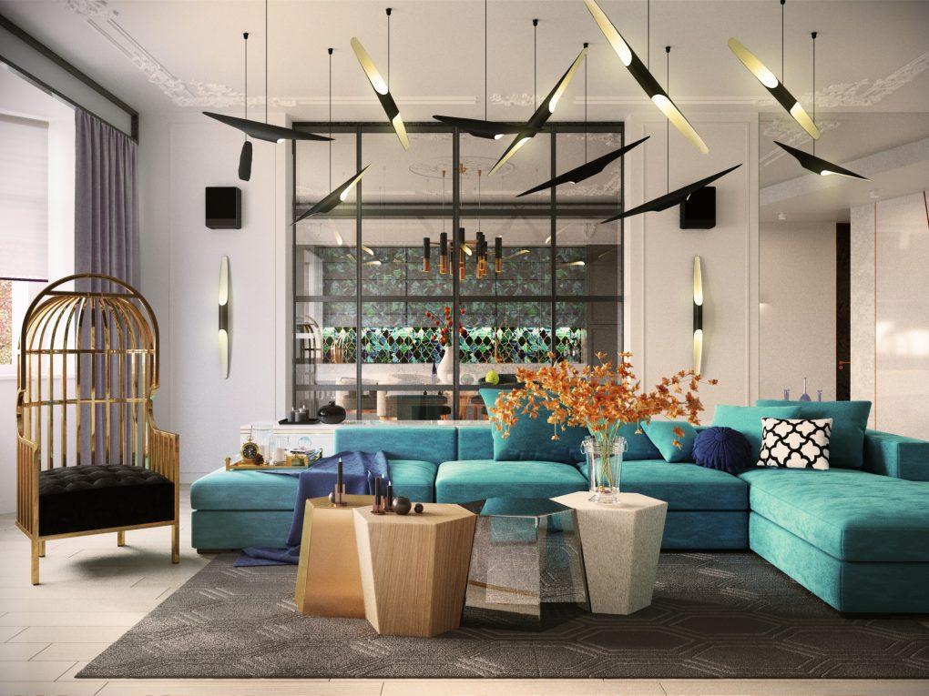 Очаровательный синий дизайн квартиры с потрясающими деталями синий дизайн синий дизайн квартиры с потрясающими деталями Charming Blue Apartment Design With Stunning Details 3 1020x765
