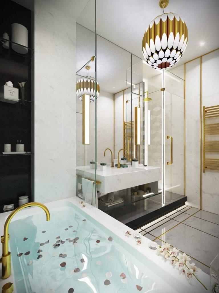 Очаровательный синий дизайн квартиры с потрясающими деталями синий дизайн синий дизайн квартиры с потрясающими деталями Charming Blue Apartment Design With Stunning Details 6 1020x1360