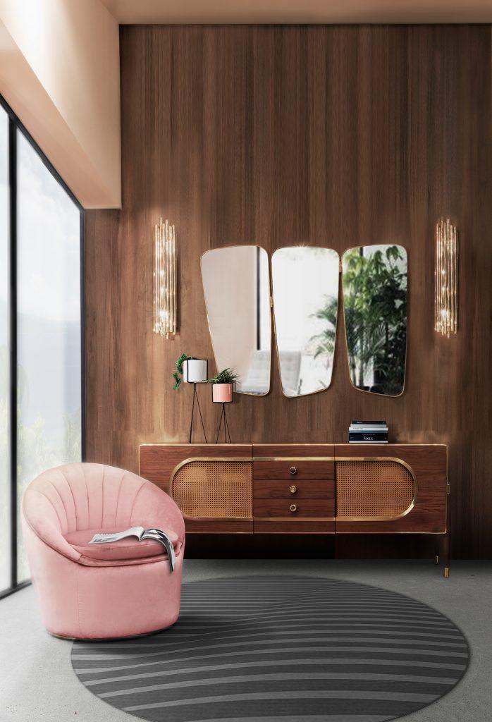 Декор для дома в самых модных цветах 2019 года Декор Декор для дома в самых модных цветах 2019 года Essential Home Monroe Armchair Dandy Sideboard 698x1024