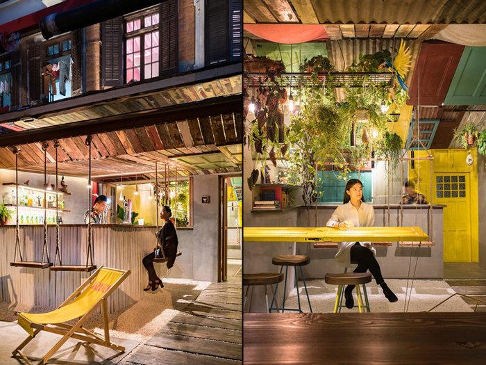 Тропический стиль Тропический стиль в интерьере rsz barraco bar by quarta armando shanghai china 02