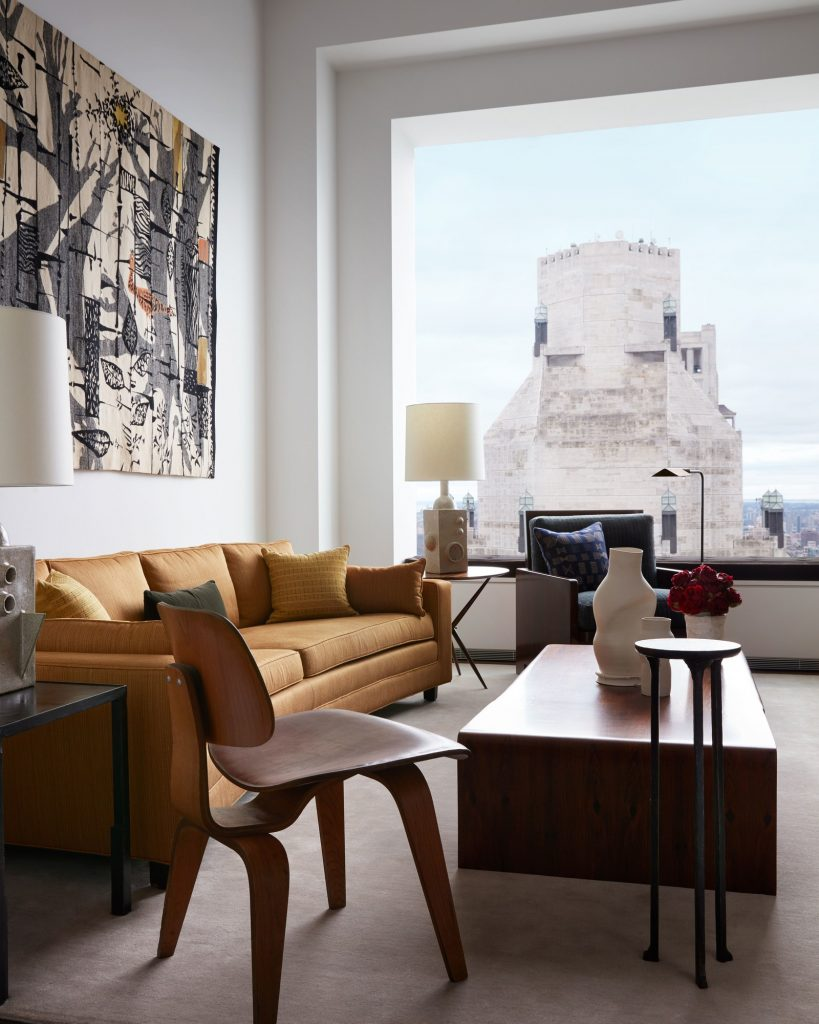 Ода посвящённая стилю mid-century в небоскрёбе, Нью-Йорк США