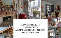 Классические Классические парижские апартаменты с видом на Нотр–Дам                                                                                                         240x150