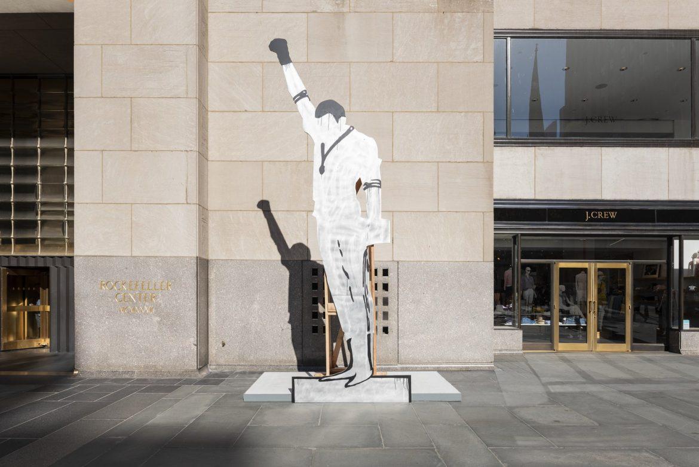 Уличный скульптурный Фриз в Нью-Йорке