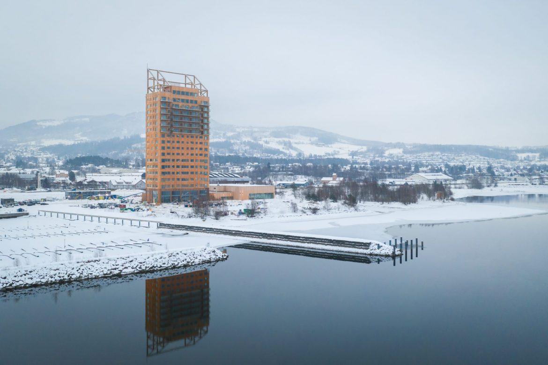 Самый высокий небоскрёб из дерева небоскрёб Самый высокий небоскрёб из дерева в Норвегии Mj  sta  rnet 12 1