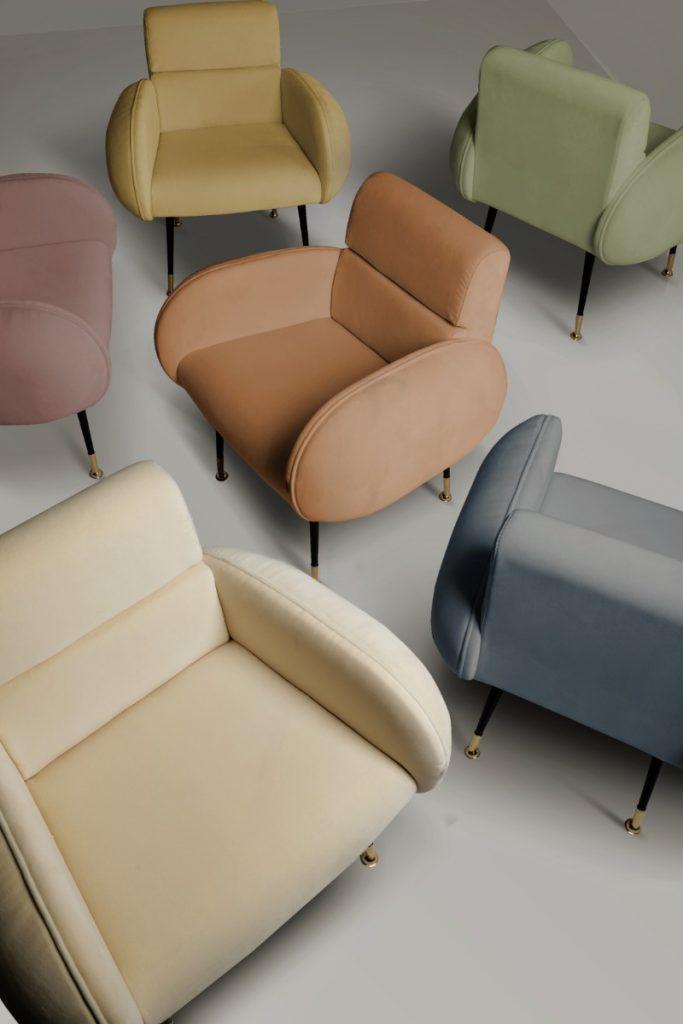 Mid-century мебель для весеннего декора