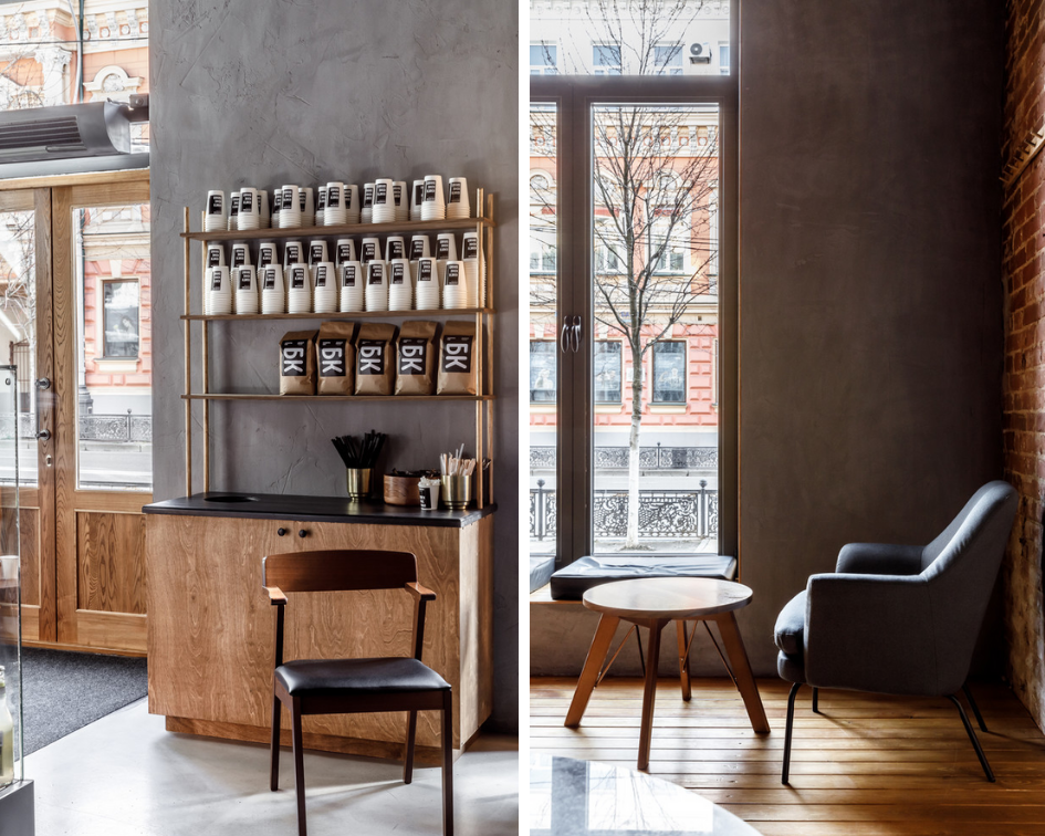 Кофейня в Краснодаре в стиле лофт