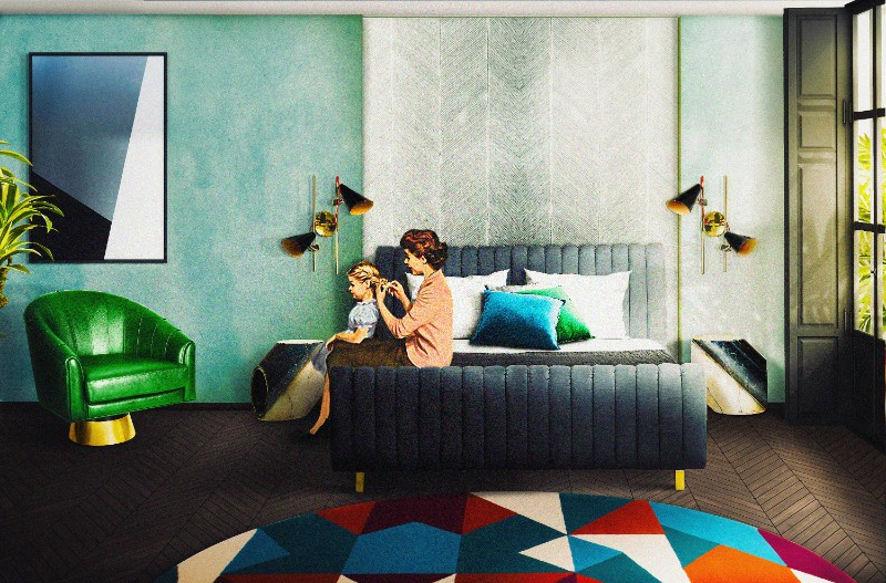 Вдохновляющие идеи для mid-century спальни спальни Вдохновляющие идеи для mid-century спальни bedroom02 hotel b aires 1