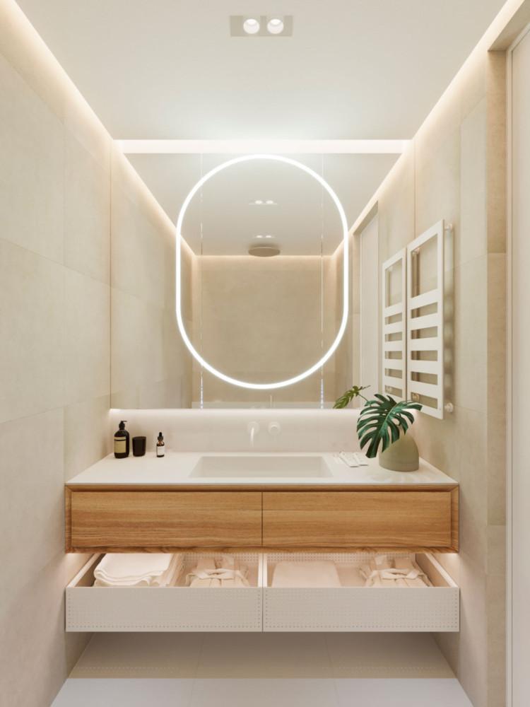Архитекторы разработали планировочное решение для молодой пары Архитекторы Архитекторы разработали планировочное решение для молодой пары 1 View01 750x1000