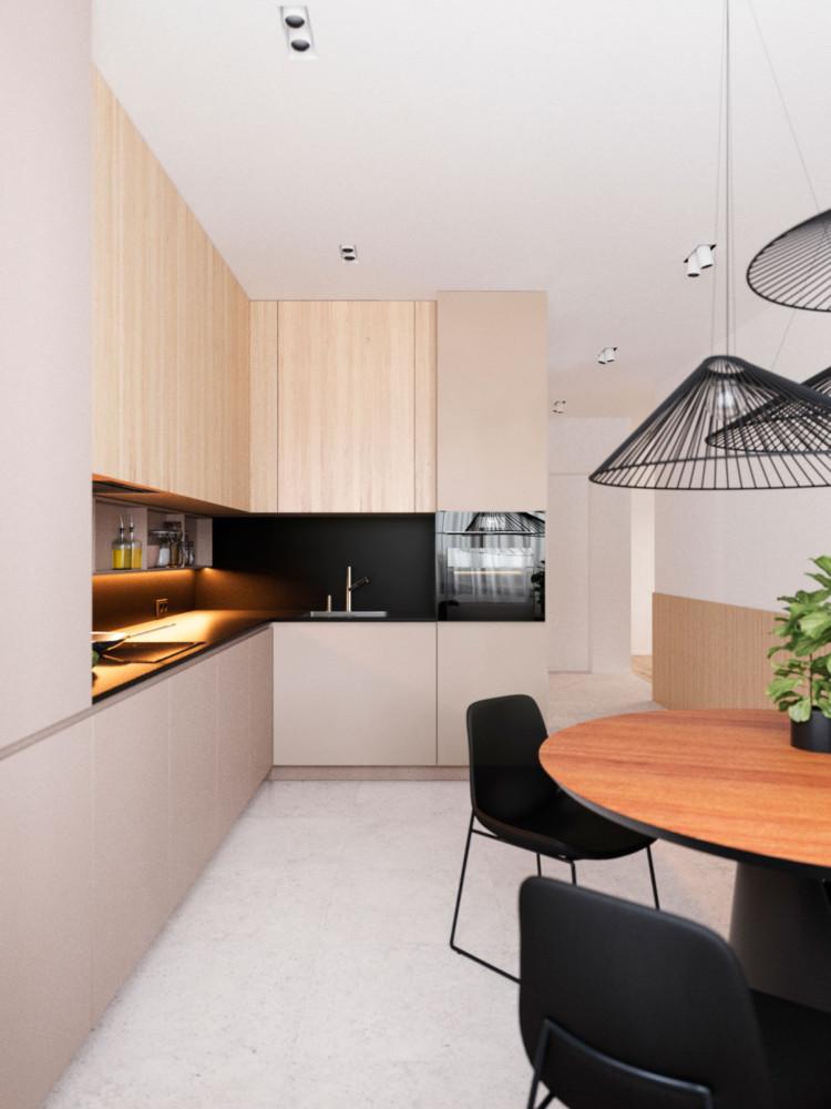Архитекторы разработали планировочное решение для молодой пары Архитекторы Архитекторы разработали планировочное решение для молодой пары Kitchen 3 750x1000