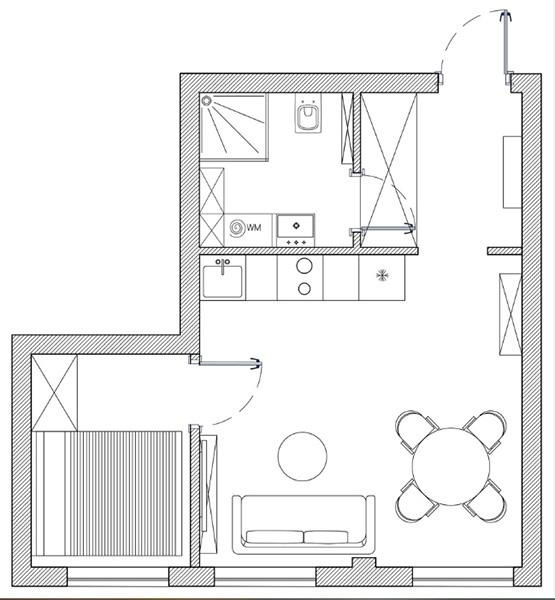 Интерьер квартиры в темных оттенках Интерьер Интерьер квартиры в темных оттенках post 3952 p2