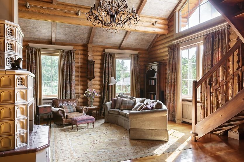 Интерьер деревянного дома в Подмосковье Интерьер Интерьер деревянного дома в Подмосковье 835 3500 s176