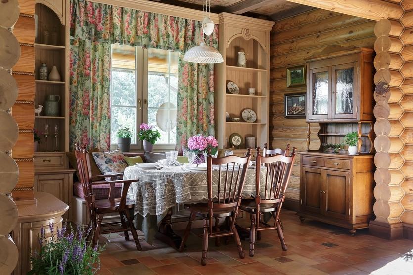 Интерьер деревянного дома в Подмосковье Интерьер Интерьер деревянного дома в Подмосковье 835 3500 s527