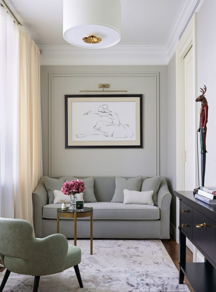 Интерьер квартиры в спокойных тонах